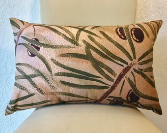 """Fine Art Printed Pillow """"Olive Branches"""""""