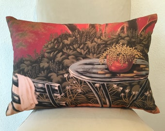 "Fine Art Printed Pillow ""Bistro"""
