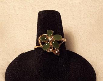 Vintage Faux Jade Ring