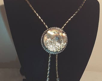 Vintage Abalone Shell Bolo Tie