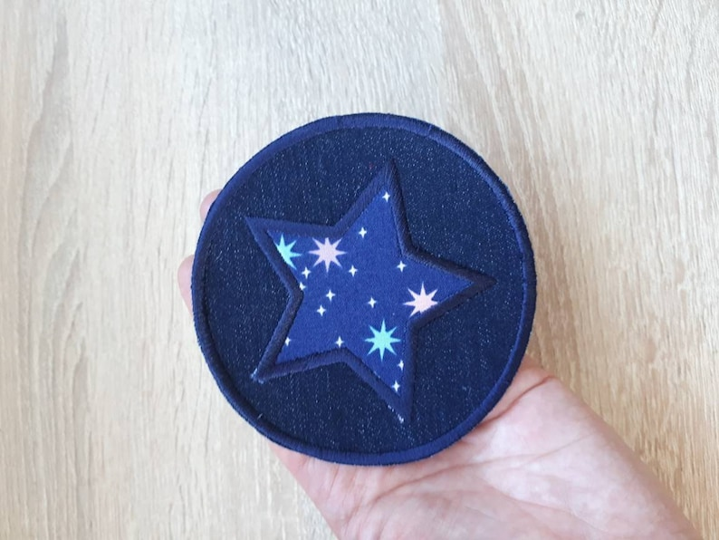 Jean Patches patches for kids clothes set 2 patches Star iron on knee patches Fabric patches