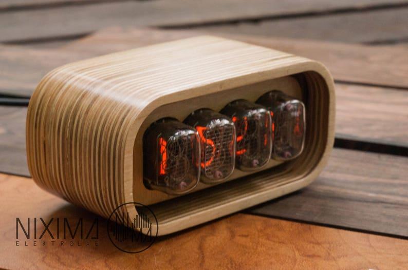 Nixie Tube Clock / Nixie Clock / Vintage / Retro / Table Clock image 0