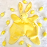 Sherbet - Bunny comforter, yellow with white spot patterned ears