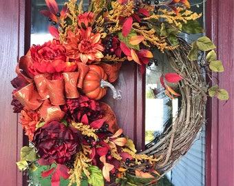 Autumn Beauty Fall Wreath