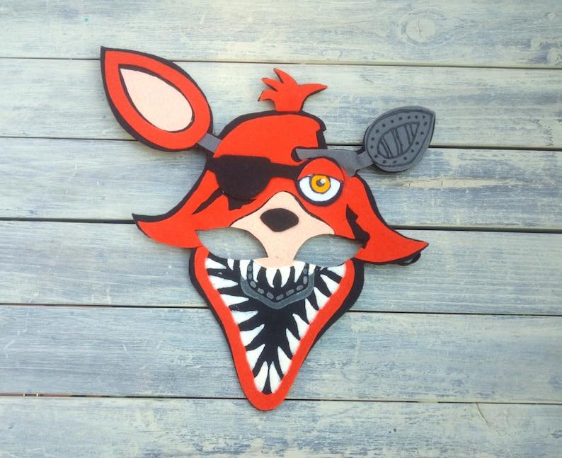 Foxy Mask Halloween Nightmare Foxy Cosplay Five Nights At Etsy