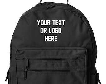 Custom Book Bag book bag Your Text or Logo Make it your Own beach school  event bag personalized full color graphic 88dd5e2cb7a45
