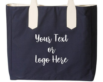 Custom Beach Tote Bag Waterproof Single Print Your Text or Logo Make it your  Own school event bag personalized graphic Christmas Gift Myrtle 575c391febf8b