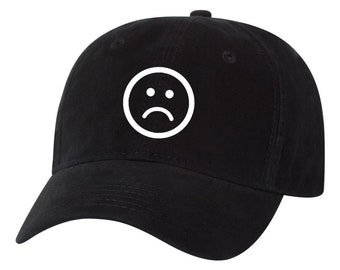 7e1e308eba3e2 Sad Dad frown frowny hat day dad hat adult unisex tumblr Unstructured Hat  sad boy