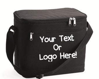 Custom Large Lunch Bag 12 pack Cooler Your Text or Logo Make it your Own  beach elementary school camp box event bag personalized full color a15e30c27a7e0