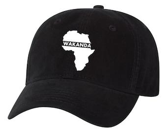 3a1cc494519 Melanin Script Black Pride Stay Woke Dad Hat Unstructured Hat