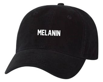 Melanin Black Pride Stay Woke Dad Hat Unstructured Hat c673f77756b4