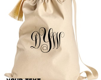 Custom Laundry Bag Your Text or Logo Dorm College University School  Drawstring Make it your Own beach event personalized full color graphic c4095303d2ac3