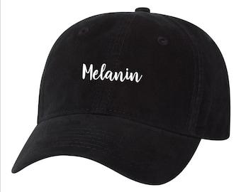 f0d5914d01b Melanin Script Black Pride Stay Woke Dad Hat Unstructured Hat