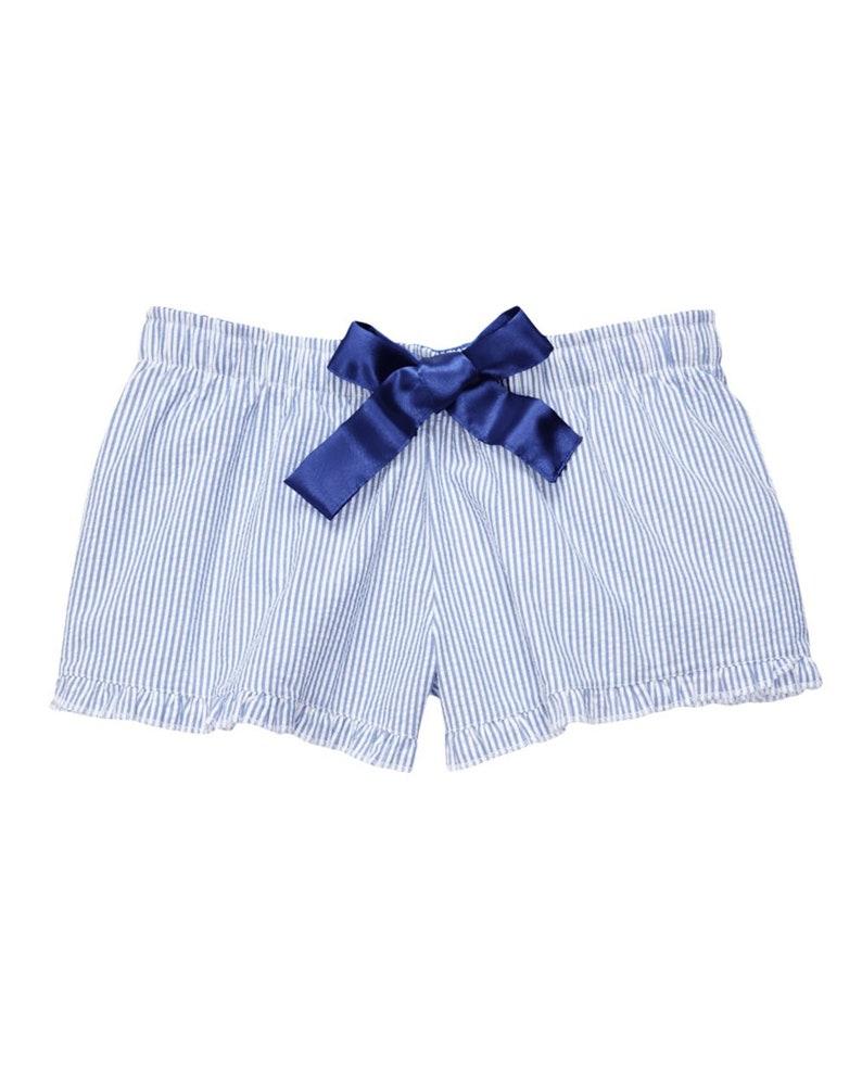 Custom Premium Women/'s Boxercraft Ruffled Boxer Pajamas Custom Text Back Sorority Girlfriend Gift for Her Wedding Lingerie VIP Bride Party