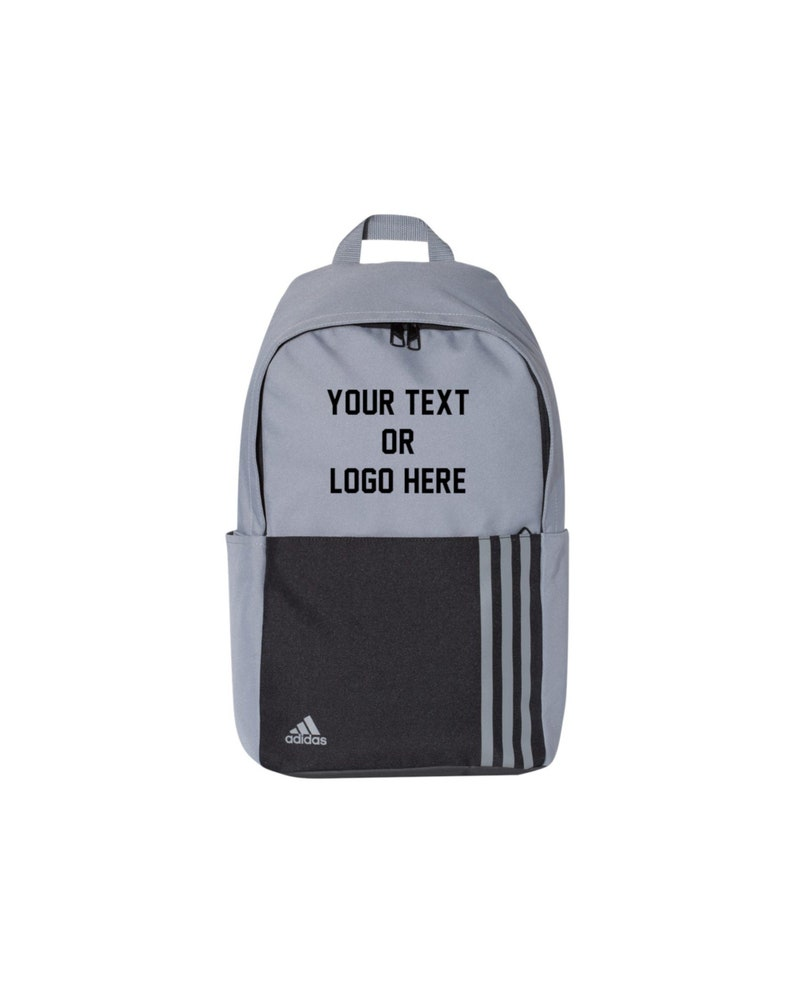 3f28211d47fe3 Custom ADIDAS 18L 3-Stripes Backpack bookbag Personalized Your Text or Logo  Camping Back to School College University Hiking Beach Hunting