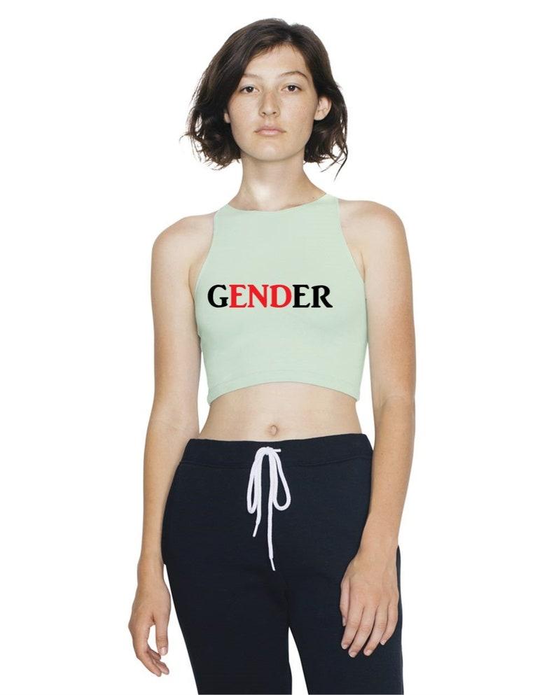 66c4536f28c1c6 Gender Equality Crop Top Spandex Sleeveless Feminist