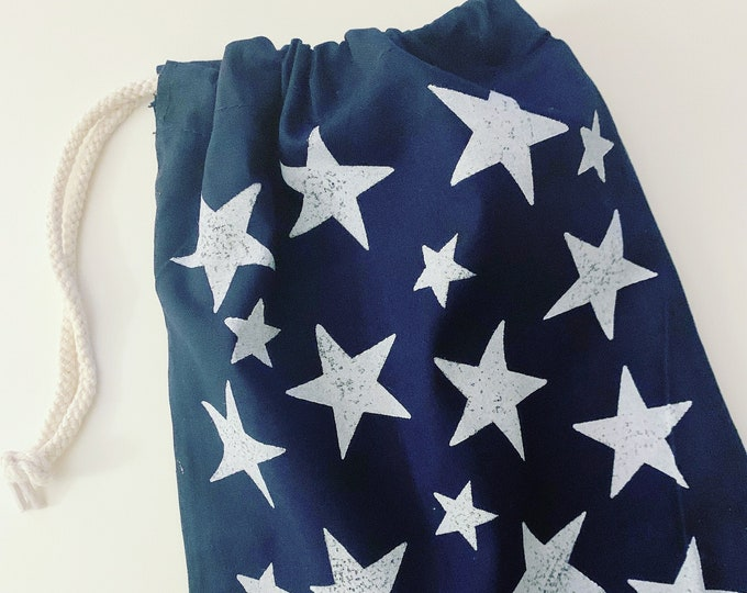 Navy Star Shoe Bag