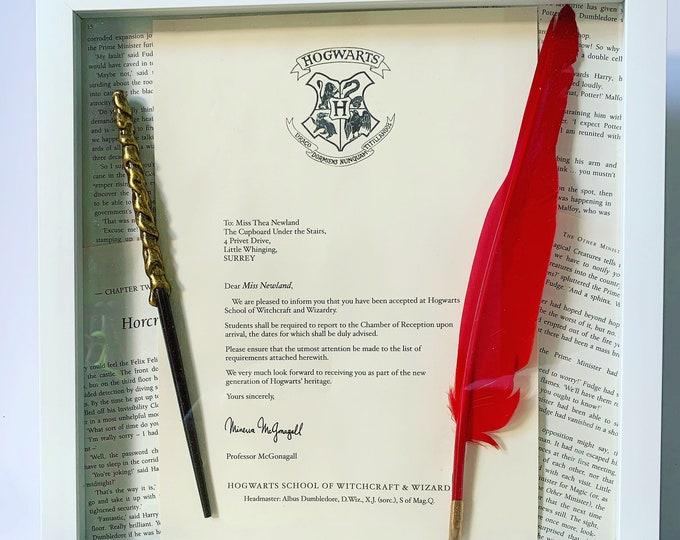 Personalised Framed Hogwarts Acceptance Letter