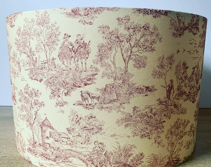 Vintage Toile Lampshade