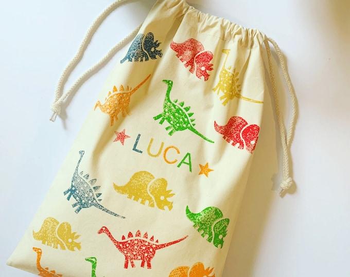 Handprinted Childrens Shoe Bags