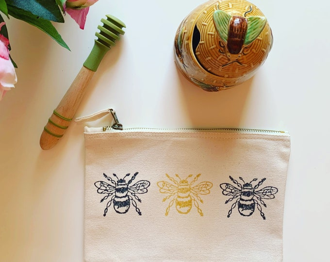 Bumble Bee Make Up Bag