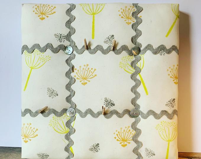 Handprinted Bee Seedling Memo Board