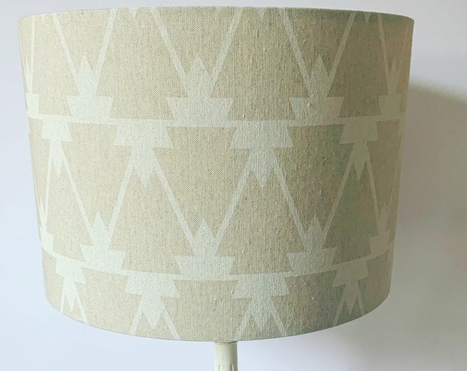 White Geometric Lampshade