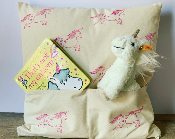 Unicorn Pocket Cushion