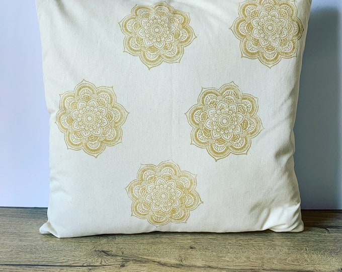 Mandala Handprinted Cushion