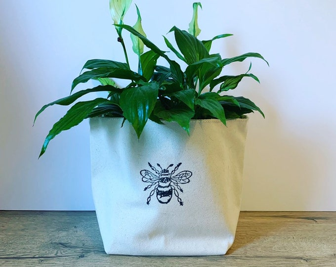 Handprinted Bumble Bee Storage Bag