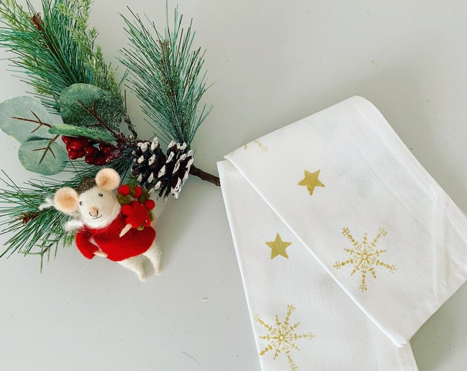 Snowflake Star Tea Towel