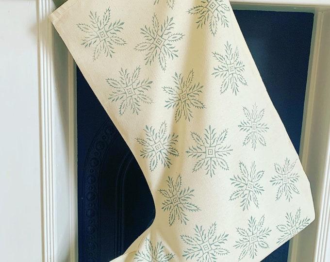 Large Snowflake Christmas Stocking