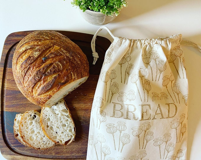 Reusable Poppy Bread Bag