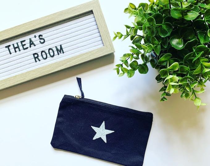 Black Star Make Up Bag
