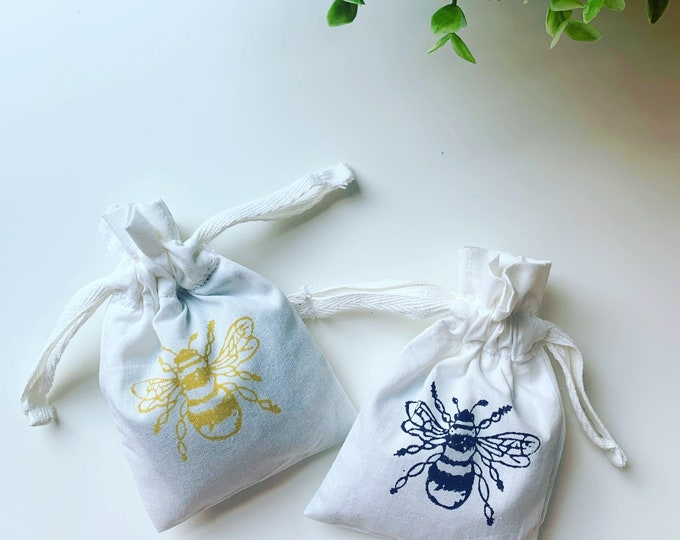 Bumble Bee Cotton Lavender Bags