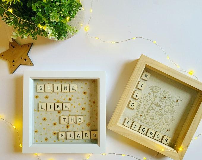 Mini Handprinted Quote Box Frames