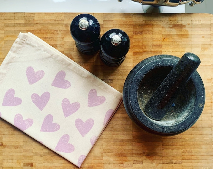 Love Heart Tea Towel
