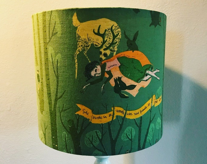 Pair of Vintage Snow White Story Lampshades