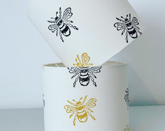 Bumble Bee Drum Lampshade