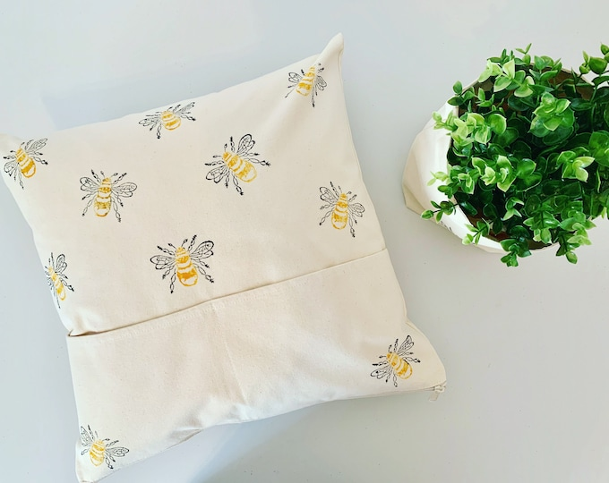 Bumble Bee Pocket Cushion