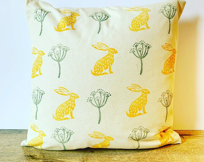 Hare Seedling Cushion