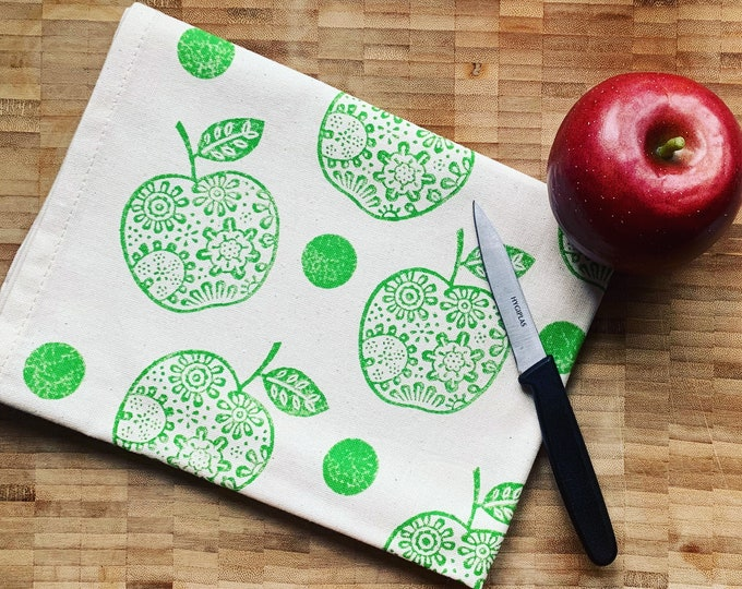 Apple Polka Dot Tea Towel