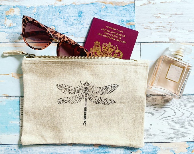 Dragonfly Make Up Bag