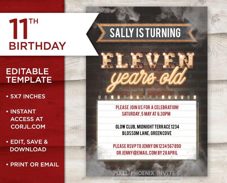 11th Retro Birthday Steampunk Invite