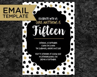 18th Birthday Invitation email invitations 18th Birthday