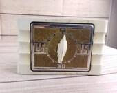 Vintage Art Deco Kitchen Timer White Stove Clock