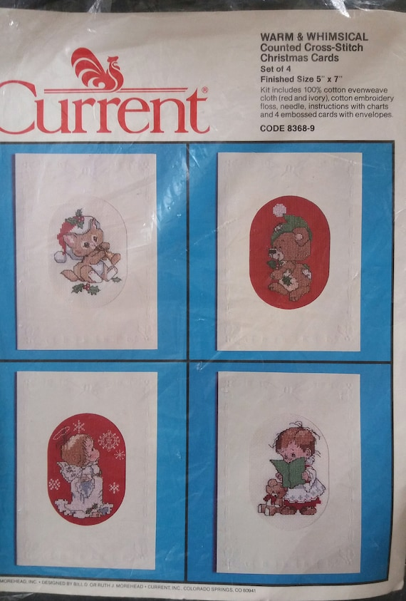 Current Warm & Whimsical Counted Cross Stitch Christmas Cards   Etsy