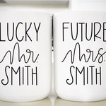 Future Mrs Mug Set | Bride Gift | Engagement Mug Set | Custom Engagement Mug Set | Newly Engaged | Bride To Be Gift | Engagement Gift I Rae