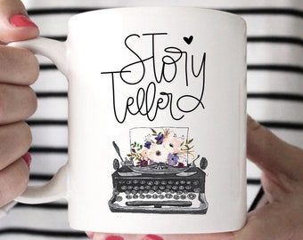 Gifts for writers etsy gifts for writers story teller gift for writer woman author mug writers gifts typewriter mug funny writer mug gift for writer negle Images