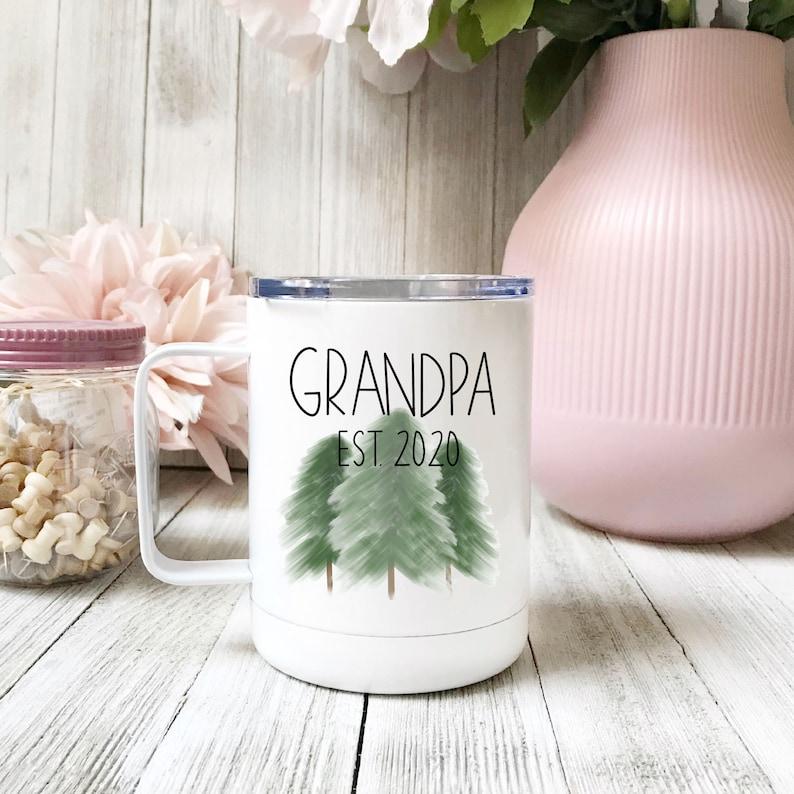 Grandpa Stainless Steel Coffee Mug Grandpa Mug Christmas image 0